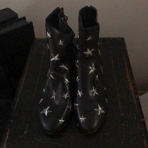 Dolce vita black/silver star boots